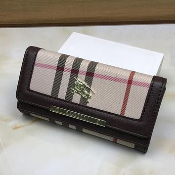 Burberry Women Fashion Leather Buckle Wallet Purse