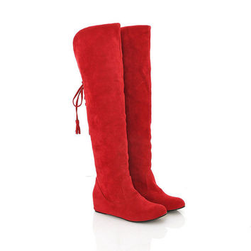 Warm Frosted Knee-High Increased Boots