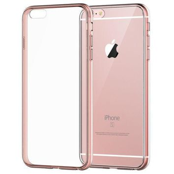 Iphone 6s Plus Case Jetech Apple Iphone 6/6s Plus Case Shock Absorption Bumper And Anti Scratch Clear Back For Iphone 6s 6 Plus 5.5 Inch (rose Gold)   3204