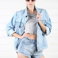 Denim Jean Jacket and Shop Apparel at MakeMeChic.com