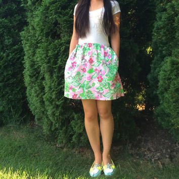 Custom Lilly Pulitzer Skirt w/ Pockets in Multiple Prints