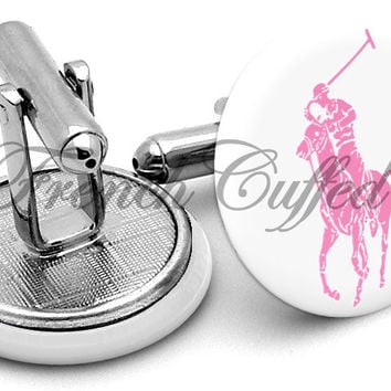 Ralph Lauren Polo Pink Cufflinks