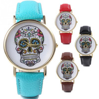 Strong Character Skull Watch Stylish Ladies Gifts Quartz Watch [6270412998]