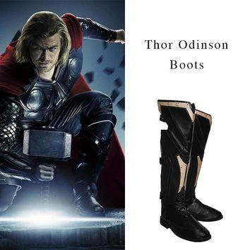 Thor The Avengers Ultron Cosplay Shoes Men High Boots Custom Made