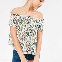 Cooperative Floral Off-The-Shoulder Tee - Urban Outfitters