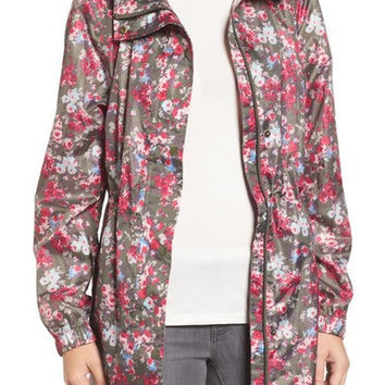 Right as Rain Packable Print Hooded Raincoat