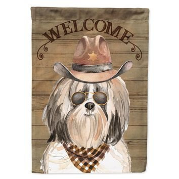 Shih Tzu #2 Country Dog Flag Canvas House Size CK6362CHF