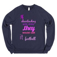 Cheer Tee-Unisex Navy Sweatshirt