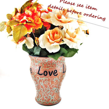Custom Made Wedding Vase