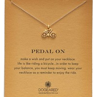 Women's Dogeared 'Reminder - Pedal On' Bicycle Pendant Necklace