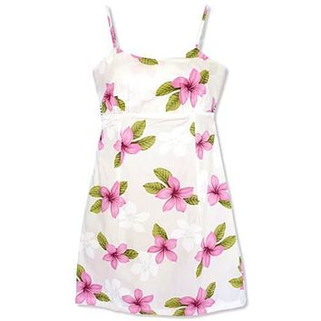 delight pink hawaiian spaghetti dress