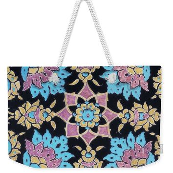 An Ottoman Iznik Style Floral Design Pottery Polychrome, By Adam Asar, No 13j - Weekender Tote Bag