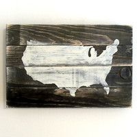USA Map Wood Art