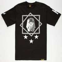 Last Kings Stepstar Mens T-Shirt Black  In Sizes