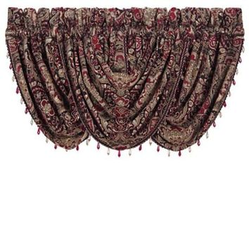 J. Queen New York™ Roma 33-Inch Waterfall Window Valance