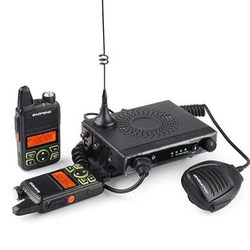 BAOFENG T1 Car Mobile Transceiver 15W UHF 400-470mhz With 2 Pcs Portable Walkie Talkie SOS Radio
