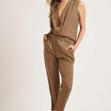 Zip Pleated Jumpsuit