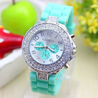 Men Women Student Fashion Casual Geneva Silicon Jelly Sport Watch Crystal Quartz Watches = 5617852673