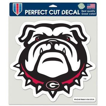"Licensed Georgia Bulldogs Official NCAA 8""x8"" Perfect Cut Car Decal by Wincraft 384676 KO_19_1"