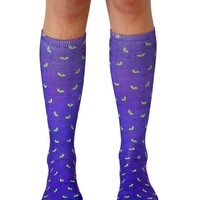 Cat Eyes Knee High Socks
