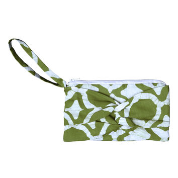 Clutch with a Twist - Fisheye Olive