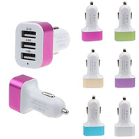 Triple Universal USB Car Charger 3 Port Car-charger Adapter Socket 2A 2.1A 1A Car Styling USB Charger For Car-Styling