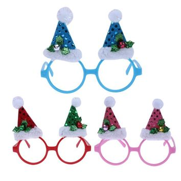 Christmas Party Funny Shining Cap Glasses