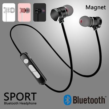 X3 Wireless Magnetic Bluetooth Earphones Sport Earphone Earbuds Running Headset Stereo Earphone for IPhone Android Phone