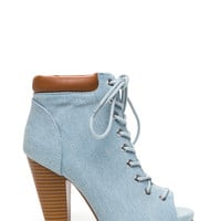 Fresh Linen Lace-Up Booties