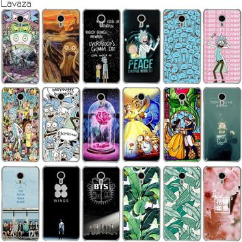 Lavaza Rick and Morty Bts Bangtan Boys Beauty And The Beast Banana Case for Meizu M6 M6S M5S M5 M5C M3 Note