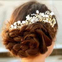 Custom Three Piece Bridal Hair Comb- Keltie