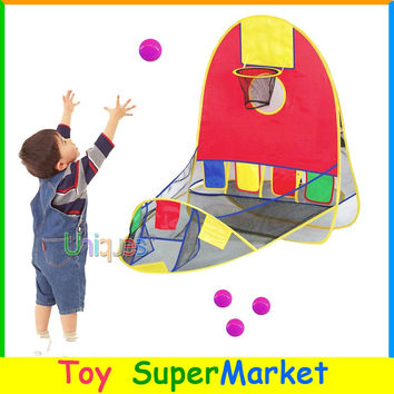 Ball Tent Play House Basketball Basket Tent Ocean Ball Pool Outdoor Indoors Sport Kids Toys Beach Lawn Play Tent Scoring