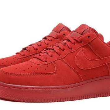 DCCKBE6 Nike Air Force 1 07 LV8 AF1 Red For Women Men Running Sport Casual Shoes Sneakers