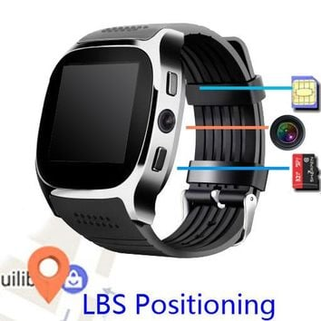 M26 T8 smart watch bluetooth MTK6261D LBS base positioning Pedometer camera supports SIM card  wireless  call answer phone