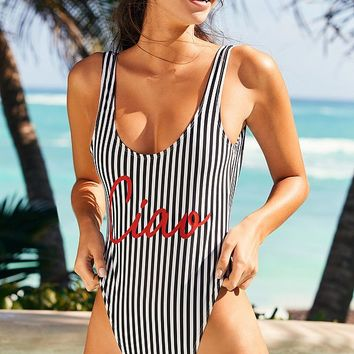 Private Party X UO Ciao One-Piece Swimsuit | Urban Outfitters