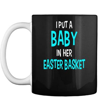 Funny Pregnancy Announcement Dad Easter Baby Announcement Mug