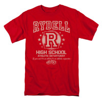 Grease Men's  Rydell High T-shirt Red Rockabilia