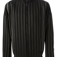 Lanvin Striped High Standing Collar Jacket - Elite - Farfetch.com