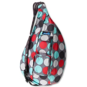 KAVU Rope Bag, Cool Dot, One Size