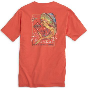Catch of the Day (Mahi) Tee Shirt in Hot Coral by Southern Tide