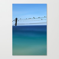 Cretan Sea & Birds I Stretched Canvas by Pia Schneider [atelier COLOUR-VISION]