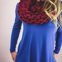 Designer Inspired Chunky Hand Knit Scarf - 6 Colors