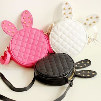 Lovely Rabbit Rivet One Shoulder Bags [6581835847]