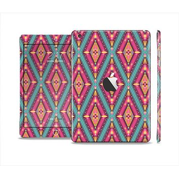 The Pink & Teal Abstract Mirrored Design Full Body Skin Set for the Apple iPad Mini 2