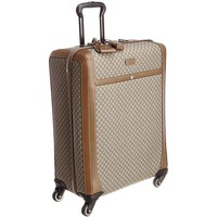 Gucci Men's Wheel Brown Beige Supreme Canvas Carry-On Suitcase Luggage 293909