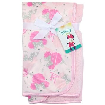 Pink Minnie Mouse Super Soft Baby Blanket