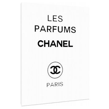 Vintage Chanel perfume ad Canvas - Typography - Perfume Bottle - Wall Art - Print Poster - Modern Decor - Motivation - Chanel logo - perfume