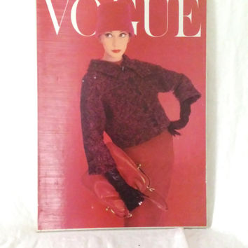 Vintage 1960s Vogue Magazine Cover Art Poster