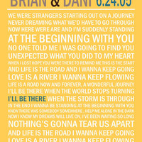 Customized Wedding Song Poster 8x10 High Quality Printable Typography
