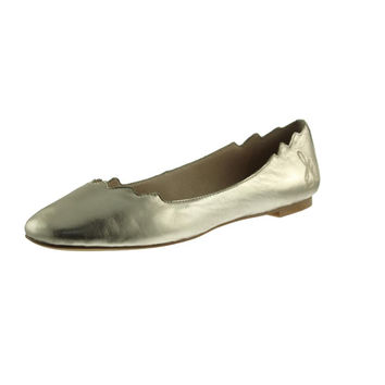 Sam Edelman Womens Augusta Leather Metallic Ballet Flats